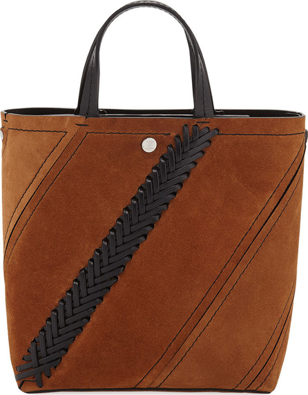 Proenza Schouler Hex Small Suede Tote Bag with Crochet Detail