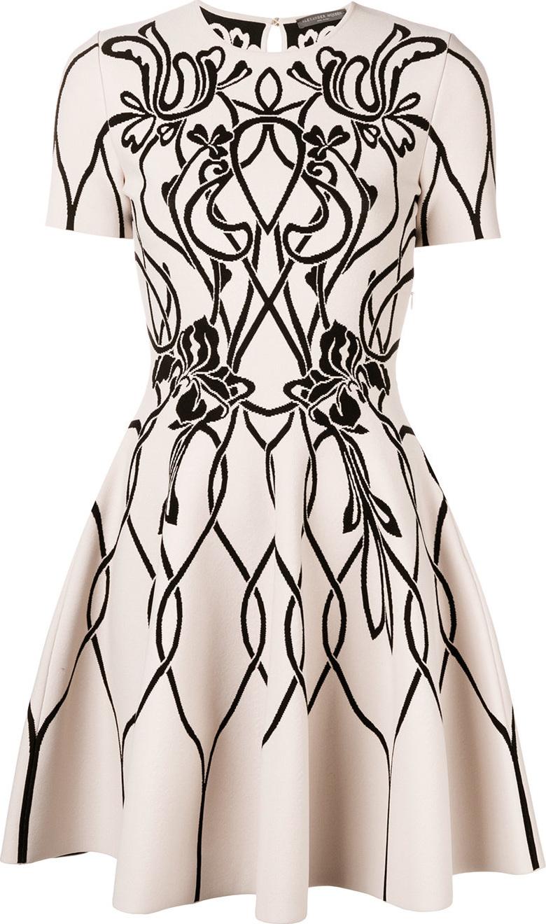 Alexander McQueen - Jacquard knitted dress