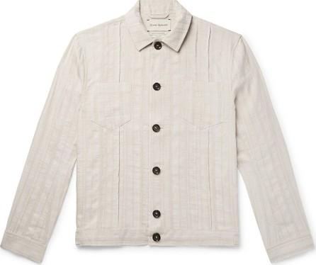 Oliver Spencer Beckford Striped Linen and Cotton-Blend Jacquard Jacket