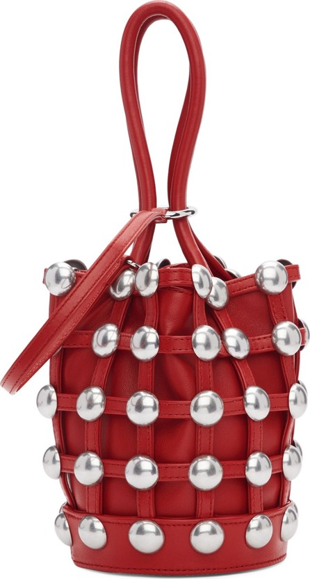 Alexander Wang Red Mini Roxy Cage Bucket Bag