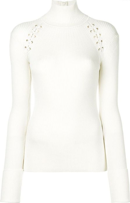 Alexander McQueen lace detailed high neck sweater