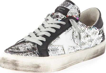 Golden Goose Deluxe Brand May Rainbow Sequin Star Sneakers