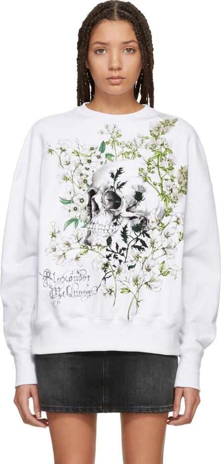 Alexander McQueen White Garden Skull Sweatshirt