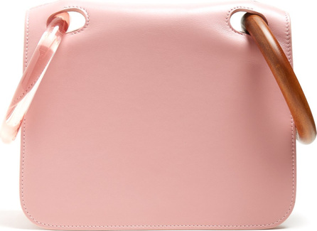 Roksanda Neneh wooden-handle leather clutch