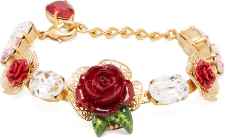 Dolce & Gabbana Rose and crystal bracelet