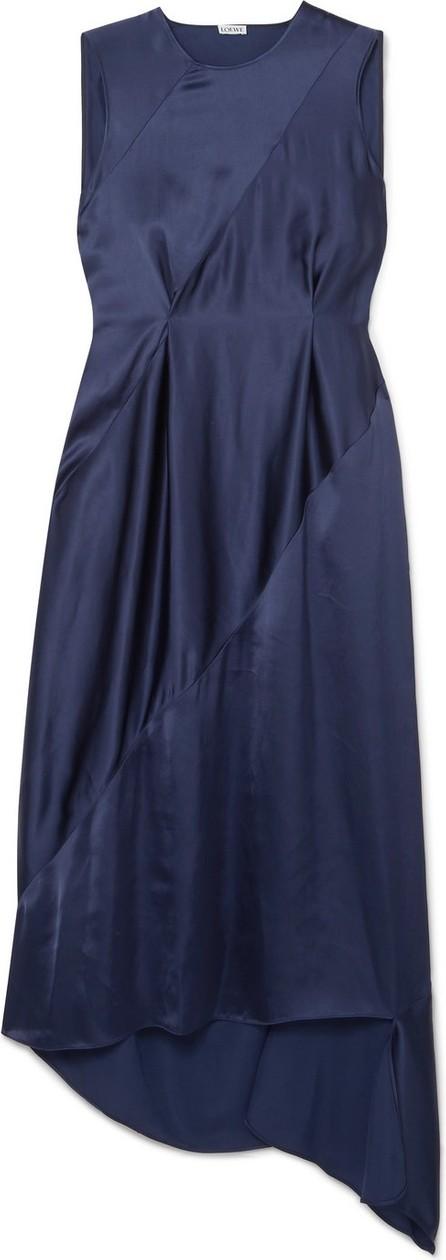 LOEWE Tie-detailed open-back satin midi dress