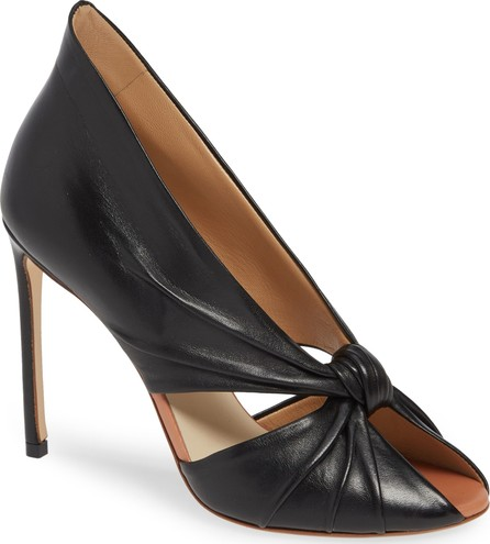 Francesco Russo Knotted Peep Toe Pump