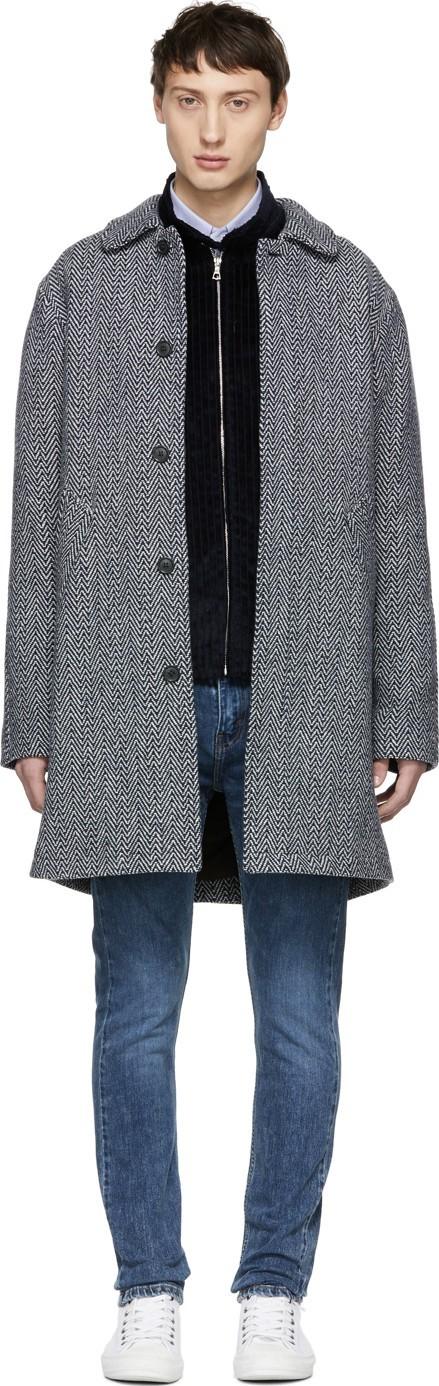 A.P.C. Navy Ivan Coat