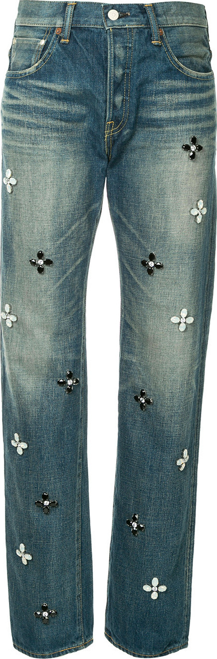Tu Es Mon Tresor Bijoux and flowers Antique jeans