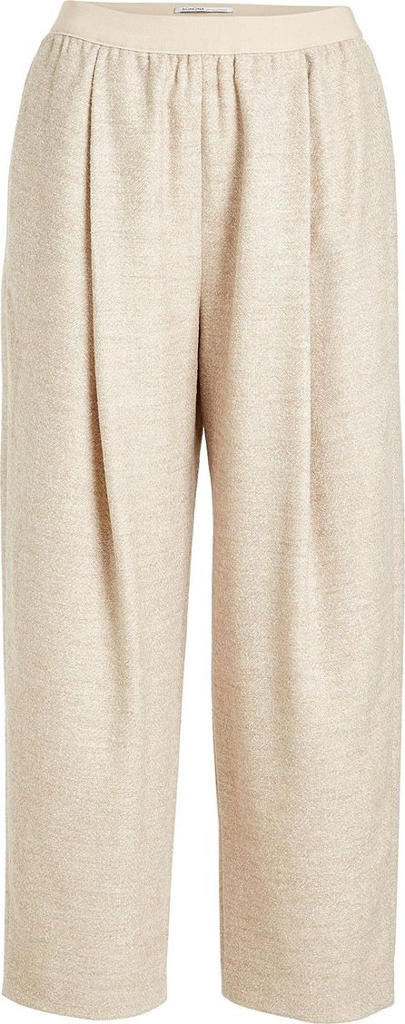 Agnona Wide-Leg Pants with Alpaca, Wool and Cashmere
