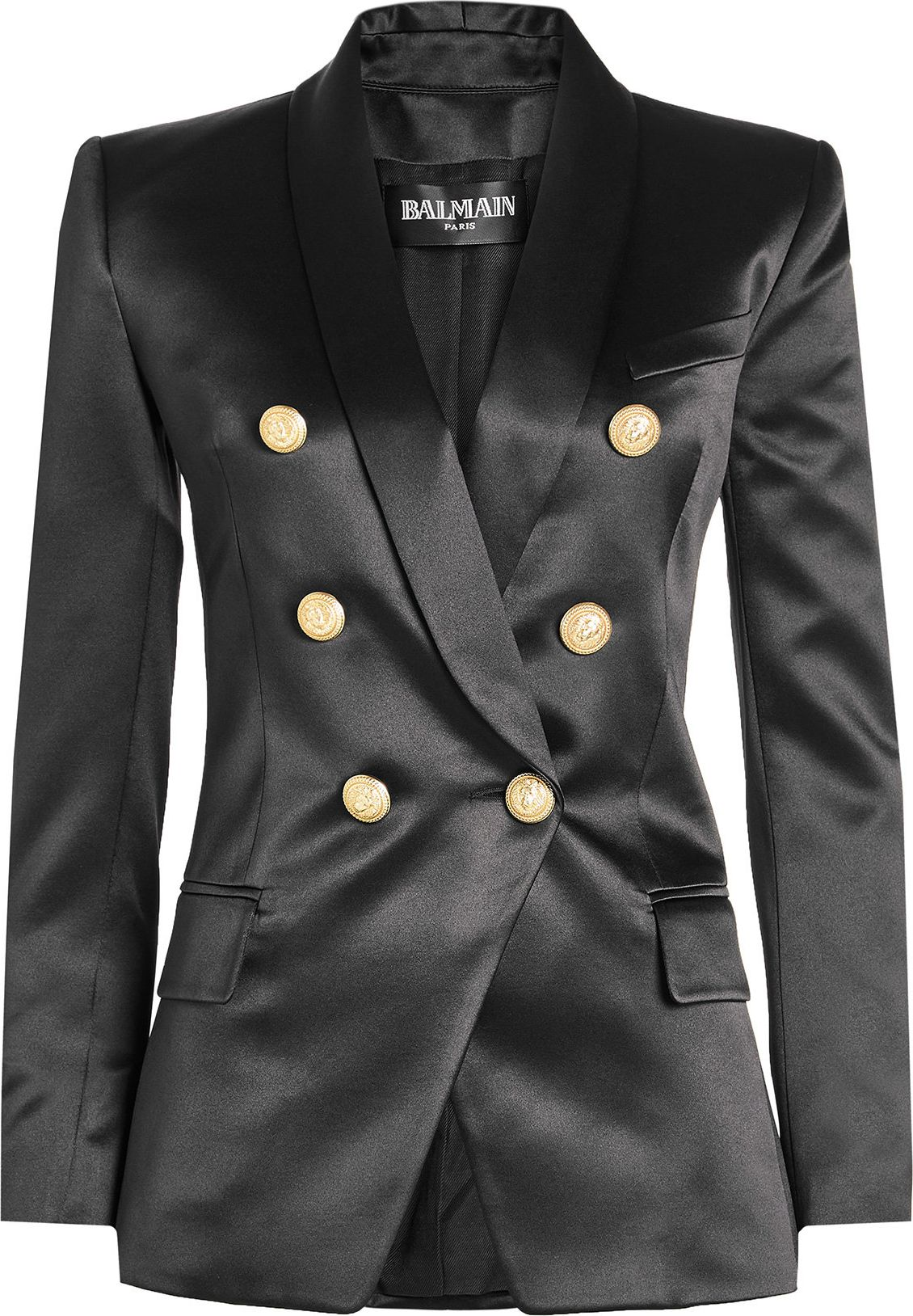 Balmain - Silk Blazer with Embossed Buttons