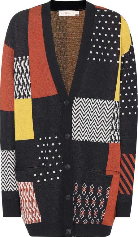 Tory Burch Clayton patchwork cardigan