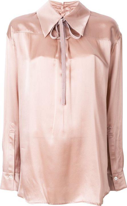 Ann Demeulemeester metallic fitted blouse