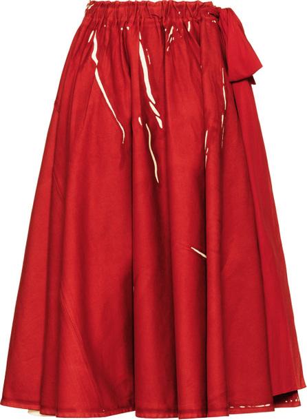 Prada Overprinted drill skirt