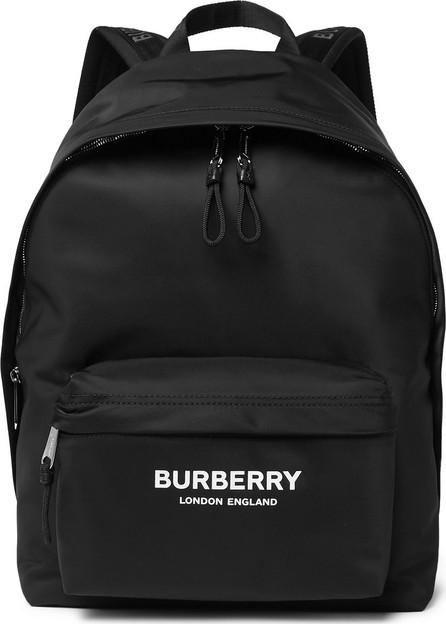 Burberry London England Logo-Print Leather-Trimmed Nylon Backpack
