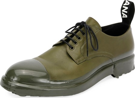 Dolce & Gabbana Men's Leather Cap Toe Derby Shoe