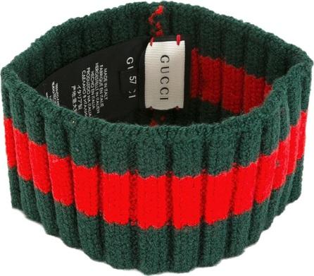 Gucci stud detail ribbed trim headband