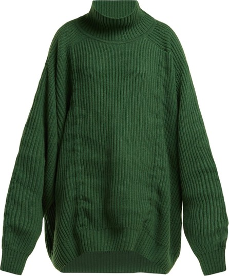 Hillier Bartley Gathered high-neck cashmere sweater