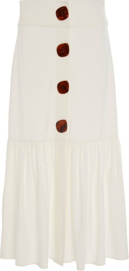Adriana Degreas Buttoned Poplin Midi Skirt