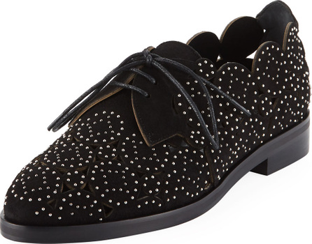 Alaïa Laser-Cut Studded Loafers