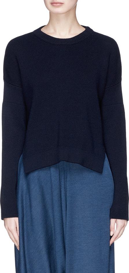 Stella McCartney Staggered hem virgin wool rib knit sweater