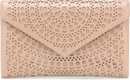 Alaïa Oum envelope leather clutch