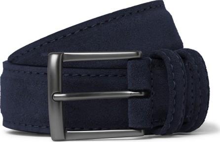 Anderson's 3.5cm Navy Suede Belt