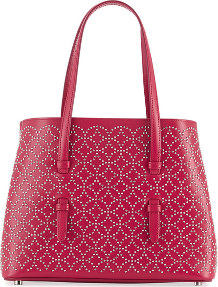 Alaïa Studded Mini Tote Bag, Pink