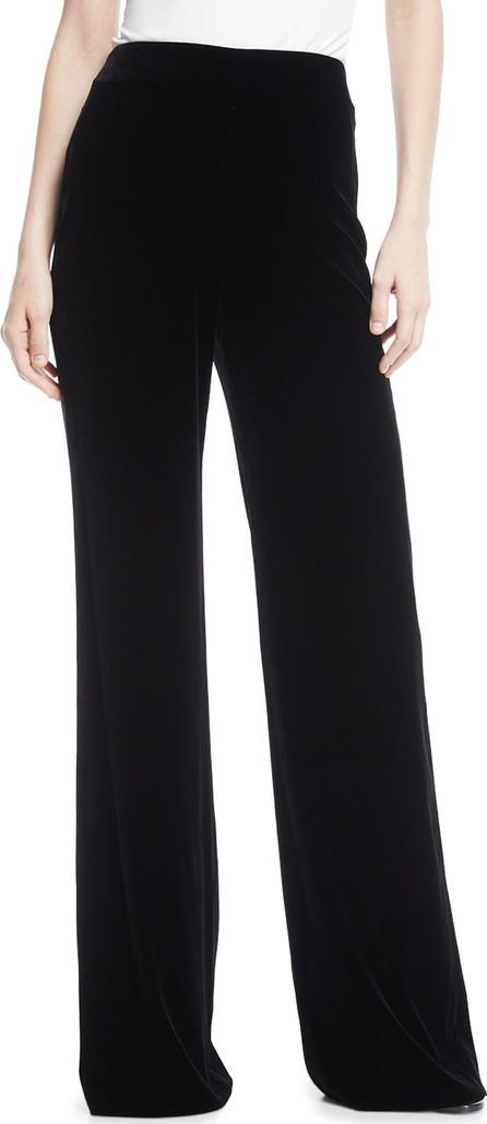 Marchesa High-Waist Wide-Leg Velvet Pants