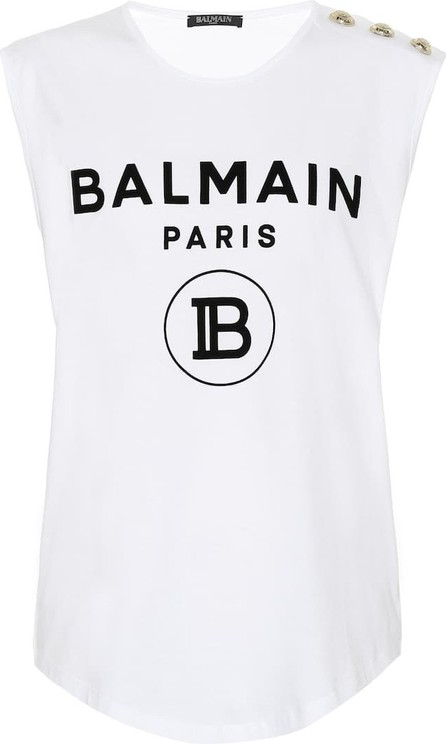 Balmain Logo cotton top