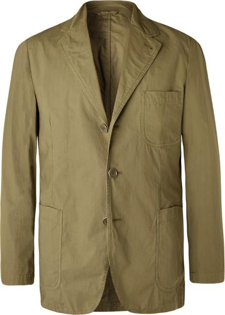 Aspesi Army-Green Slim-Fit Unstructured Garment-Dyed Cotton Blazer