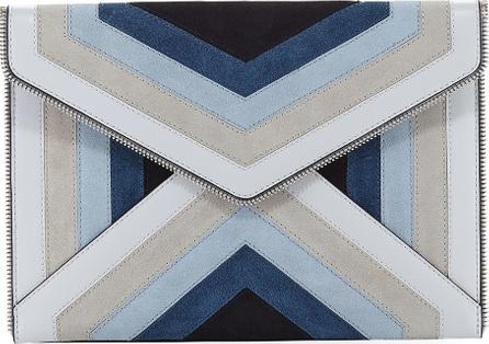 Rebecca Minkoff Leo Chevron Envelope Clutch Bag