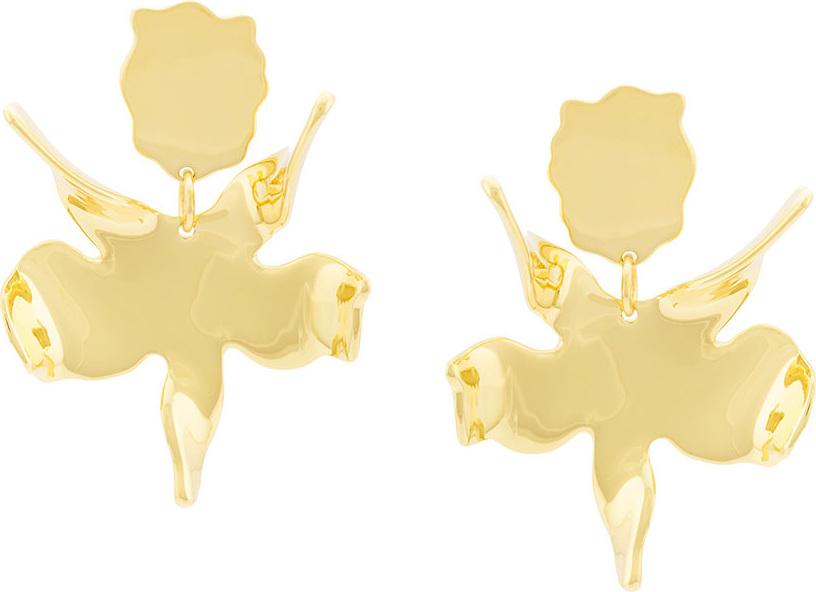 Lele Sadoughi - Flower silhouette drop earrings