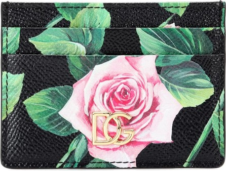 Dolce & Gabbana DG floral leather card holder