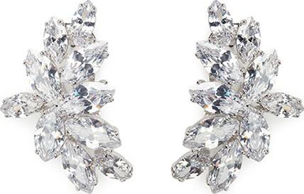 Fallon 'Crescent Post' marquise cut cubic zirconia earrings