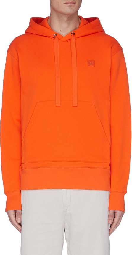 Acne Studios Face embroidered patch cotton hoodie