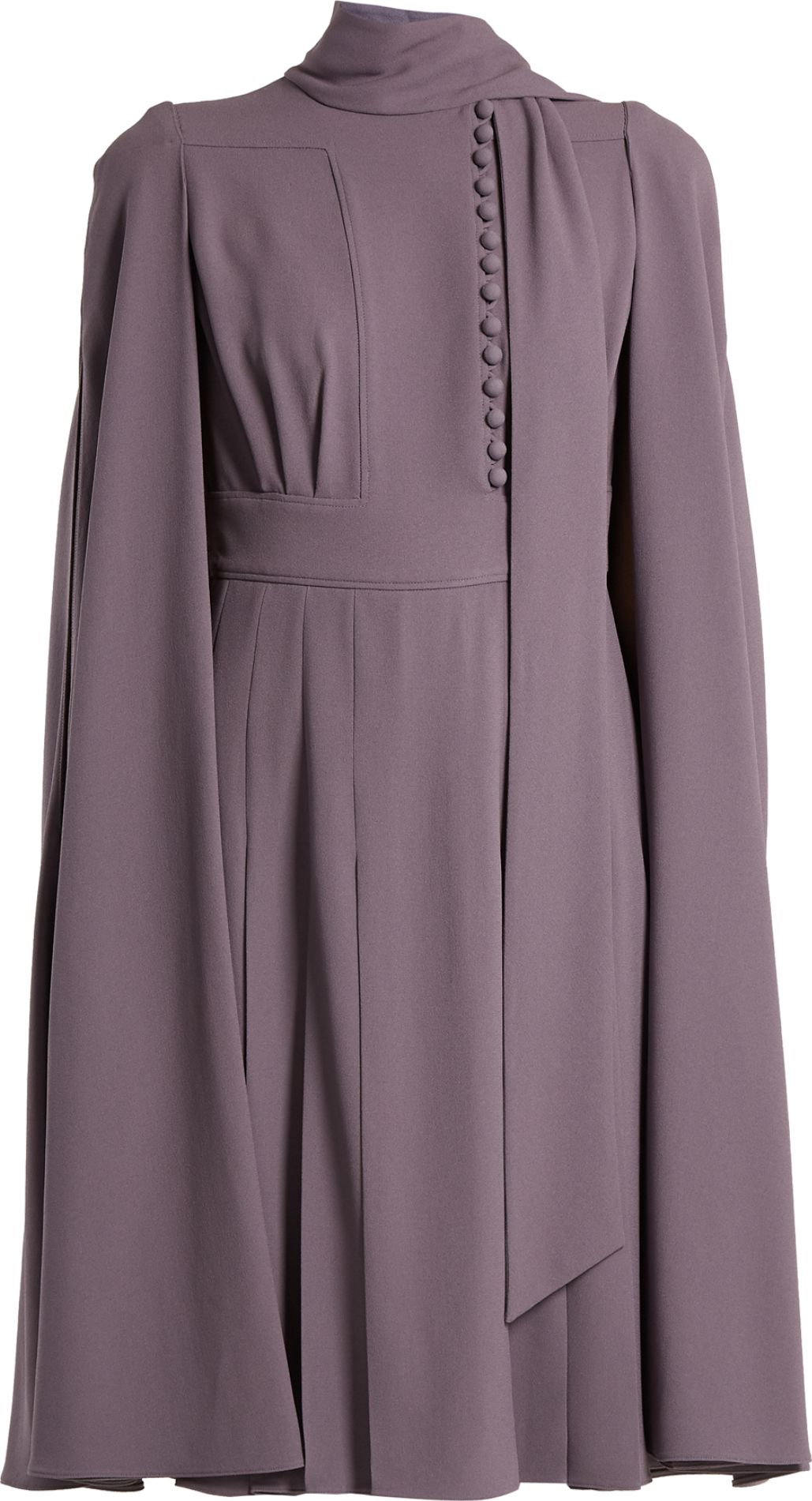 Valentino - Cape-back crepe dress