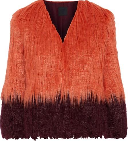 Anna Sui Two-tone faux fur jacket