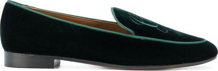Giorgio Armani embroidered monogram slippers