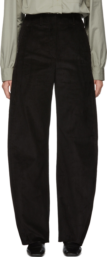 Lemaire Black Large Twisted Corduroy Trousers