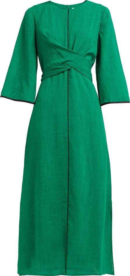 Cefinn Wrap-bodice voile midi dress