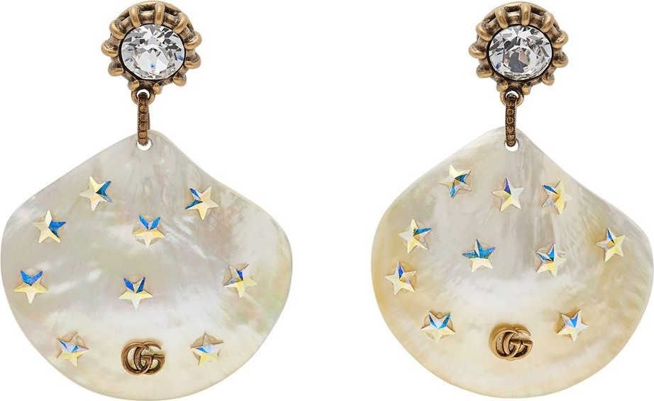 d262195aad6 Gucci GG mother-of-pearl drop earrings - Mkt