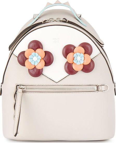 Fendi floral eyes leather backpack
