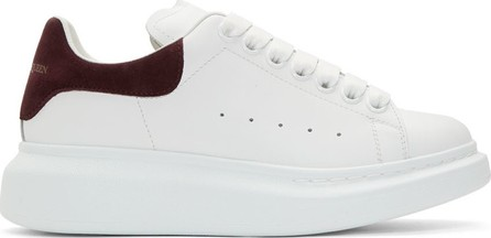 Alexander McQueen SSENSE Exclusive White & Burgundy Oversized Sneakers