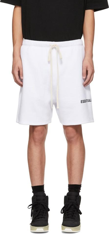 Essentials White Logo Shorts