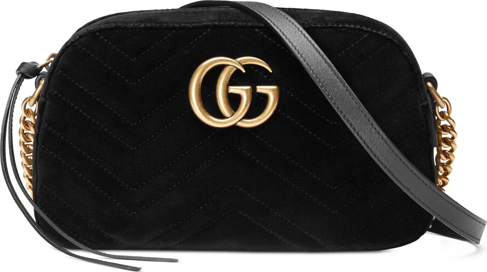 c5f4262c781 Gucci Small GG Marmont 2.0 Matelassé Velvet Shoulder Bag - Mkt