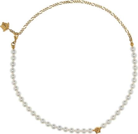 Versace Medusa faux pearl necklace