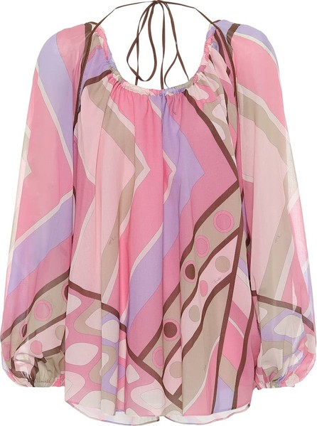Emilio Pucci Printed cotton blouse
