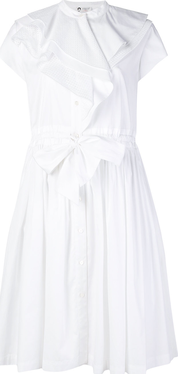 Lanvin - Ruffle trim shirt dress