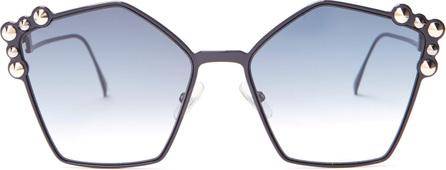 Fendi Cat-eye embellished sunglasses